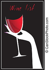wino, spis, elegancki