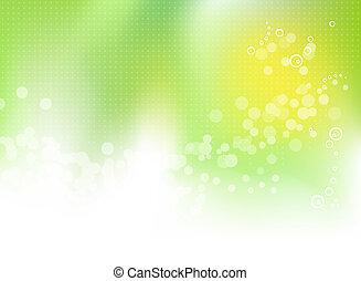 wiosna, abstrakcyjny, zielone tło