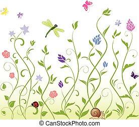 wiosna, seamless, tło