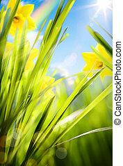 wiosna, tło, abstrakcyjny