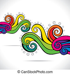 wir, barwny, tło, abstrakcyjny