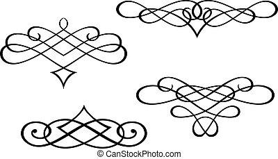 wir, monogramy, elementy