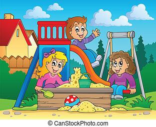 wizerunek, 2, temat, plac gier i zabaw