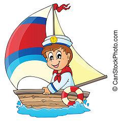 wizerunek, 3, temat, marynarz