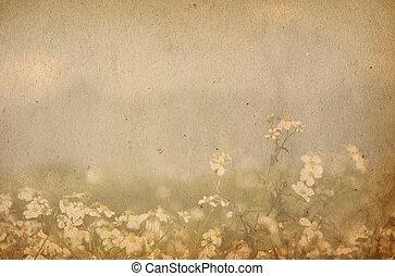 wizerunek, albo, tekst, papier, budowy, przestrzeń, stary, doskonały, tło, -, kwiat