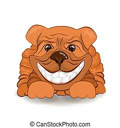 wizerunek, dog., wektor, przyjacielski