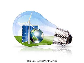 wizerunek, komórka, ziemia, wiatr, wnętrze, słoneczny, bulwa, dostarczony, nasa), lekki, (elements, to, turbina