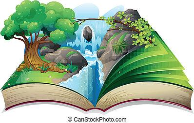 wizerunek, książka, las