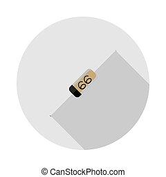 wizerunek, wektor, dioda