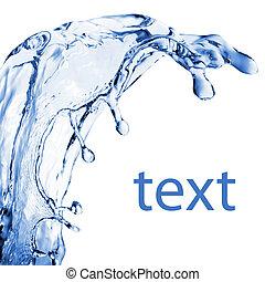 woda, abstrakcyjny, bryzg, odizolowany, biały
