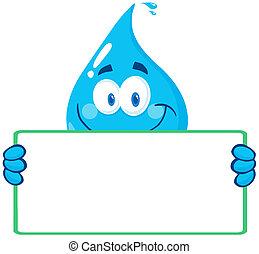 woda, bann, kropla, litera, dzierżawa