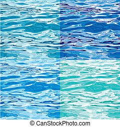 woda modelują, zmiany, seamless, powierzchnia