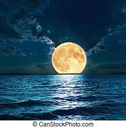 woda, na, wspaniały, księżyc