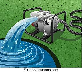 woda pompa, dostarczcie energii elektrycznej generator