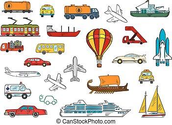 woda, przewóz, droga, powietrze, symbolika, popędzać