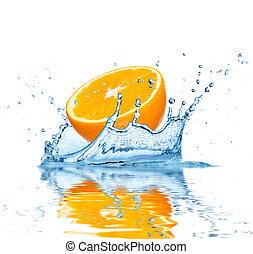 woda, spadanie, owoc