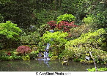 wodospad, japończyk