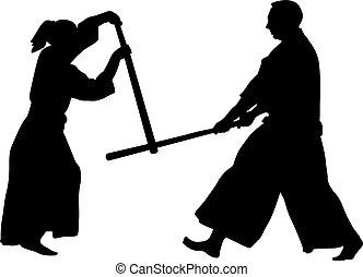 wojenny, aikido, sztuka