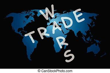 wojny, mapa, światowy handel