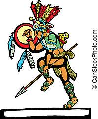 wojownik, mayan, #2