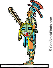 wojownik, mayan, #4