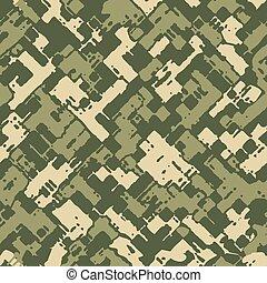 wojskowy, kamuflaż, struktura
