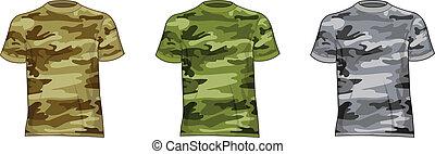 wojskowy, mężczyźni, koszule
