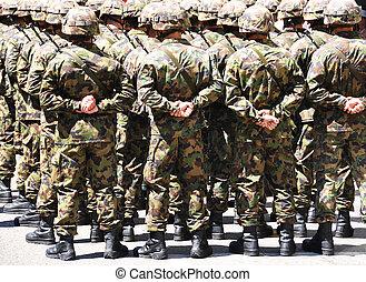 wojskowy, mężczyźni