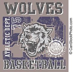 wolves, basketball zaprzęg