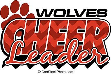 wolves, cheerleader