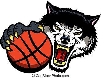 wolves, koszykówka, maskotka