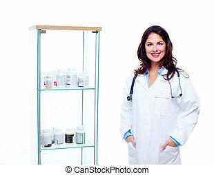 woman., farmaceuta
