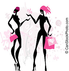 women., fason, zakupy
