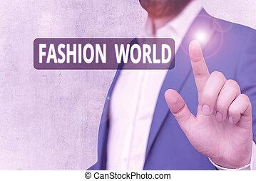 world., zwija, świat, znak, fason, odzież, appearance., tekst, style, konceptualny, fotografia, pokaz