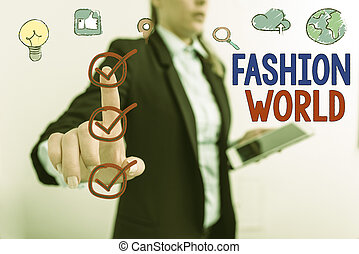 world., zwija, słowo, świat handlowy, pisanie, fason, odzież, appearance., tekst, pojęcie, style