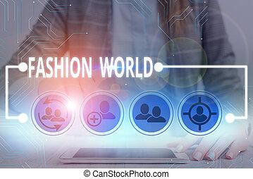 world., zwija, showcasing, świat, nuta, handlowy, pisanie, fason, odzież, appearance., style, fotografia, pokaz
