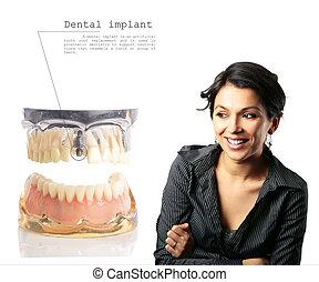 wpajać, stomatologiczny