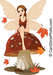 wróżka, grzyb, jesień
