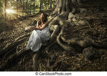 wróżka, las
