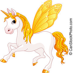 wróżka, ogon, koń, żółty