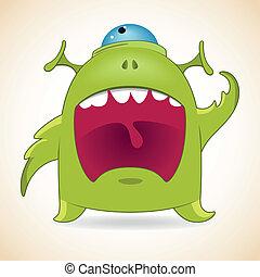 wrzaskliwy, potwór