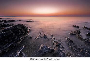 wschód słońca, irlandia
