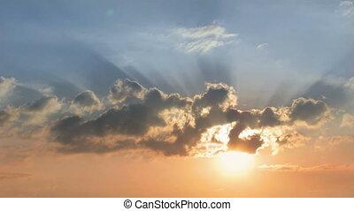 wschód słońca, niebo, clouds.