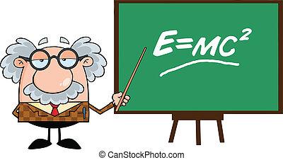 wskazówka, zabawny, profesor
