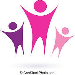 współposiadanie, /, kobiety, ikona, grupa