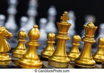 współzawodnictwo, pojęcie, strategy., szachownica, czarnoskóry, inteligencja, tło., handlowy, lider, play., powodzenie, targ, wyzwanie, odizolowany, szachy, król, gra, bitwa, tarcza, stać