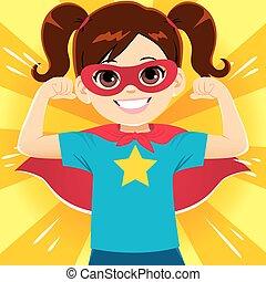wspaniały, dziewczyna, bohater