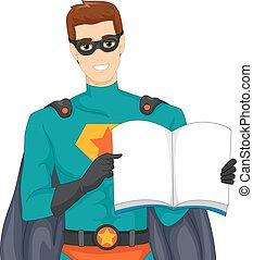wspaniały, książka, bohater, storytelling, człowiek