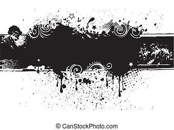 wstecz, atrament, illustration-grunge, wektor