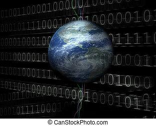 wszechświat, 3d, cyfrowy